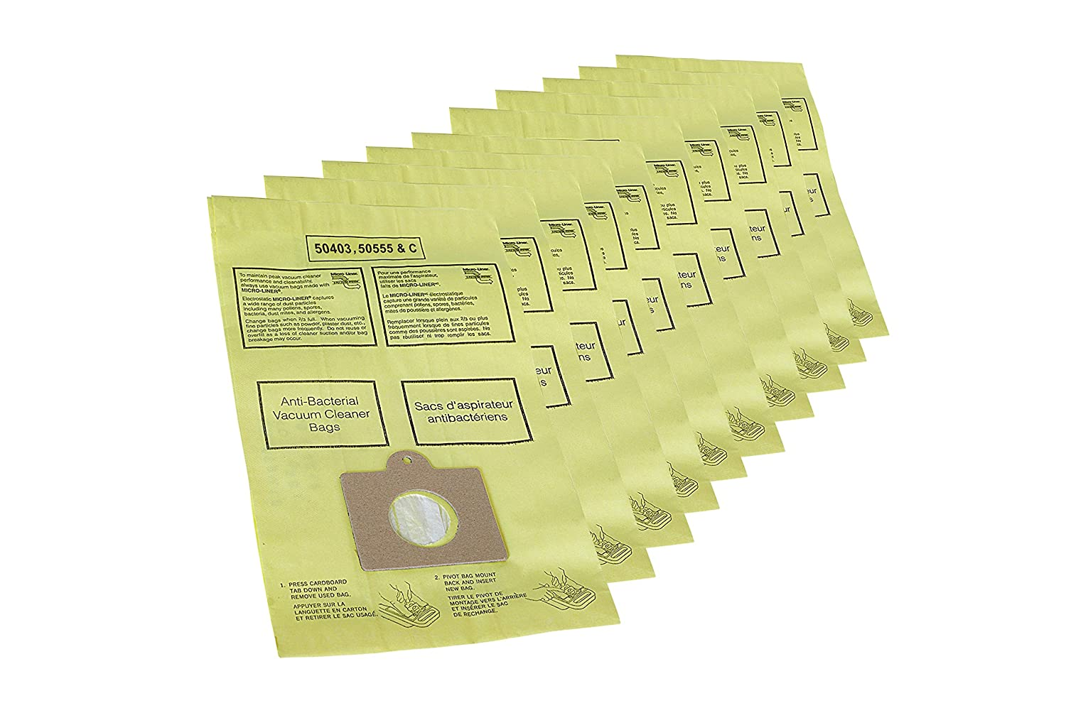 Kenmore 20-50403 Micro-Lined Disposable Canister Vacuum Cleaner Bags - Package of 10 456772