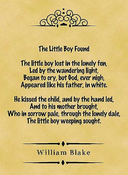 little boy found william blake