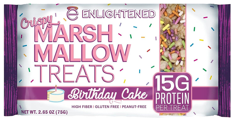Amazon Enlightened Gluten Free Marshmallow Treat Birthday Cake 10 Count Grocery Gourmet Food