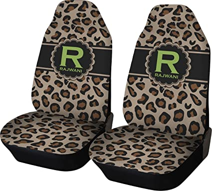 RNK Shops Granite Leopard Car Seat Covers Set Of Two Personalized