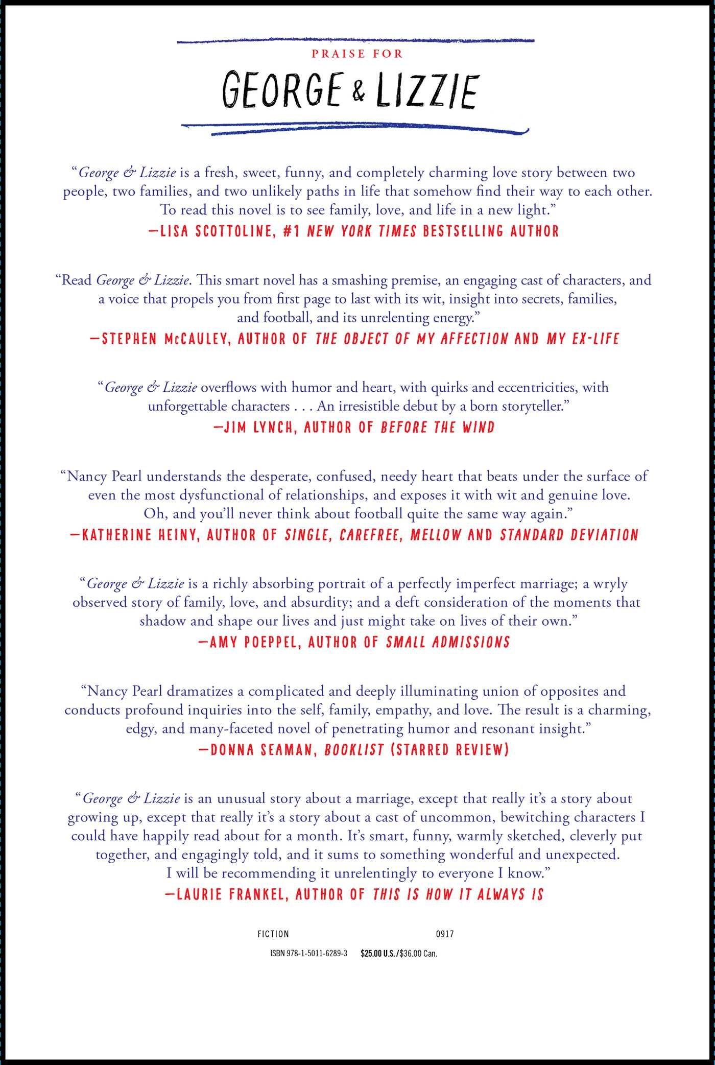 Amazon: George And Lizzie: A Novel (9781501162893): Nancy Pearl: Books