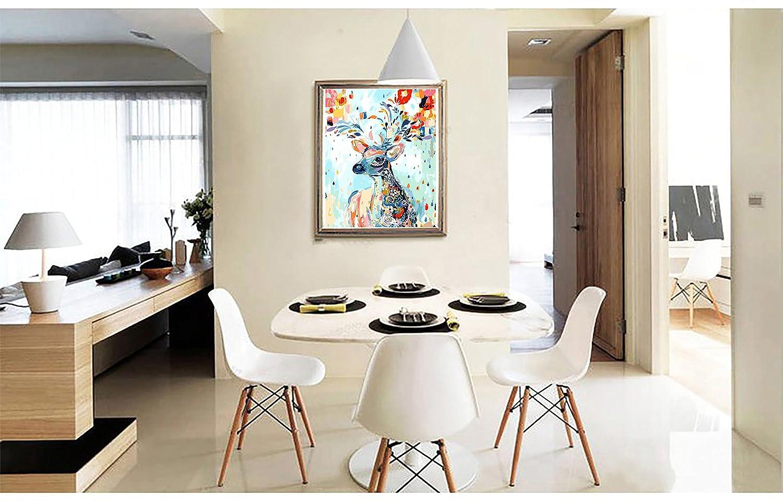 20 Pouces Fuumuui Peinture num/éro Adulte-Toile Bricolage pr/é-imprim/é pour Enfants Adultes Peindre par Nombre de Kits avec Cadre en Bois Frog 16