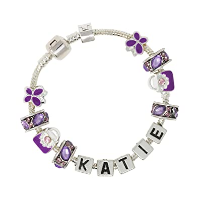 Truly Charming Be Your Own Kind Of Beautiful 18 cm Childrens Personalised Name Charm Bracelet Supplied In A Special Themed Gift Box FcZDzaS