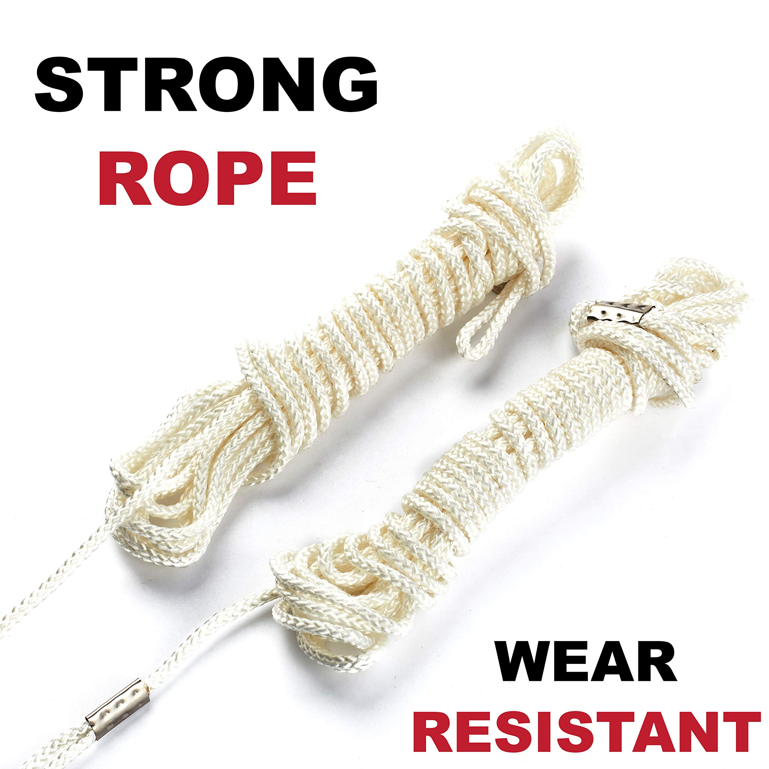 Kutir 48 Inch High Reach Tree Limb Hand Rope Chain Saw - Cuts Branches Easily, Blades on Both Sides so it Doesn't Matter How it Lands - Comes with Ropes, Throwing Weight Pouch Bag - Best for Camping by Kutir (Image #3)