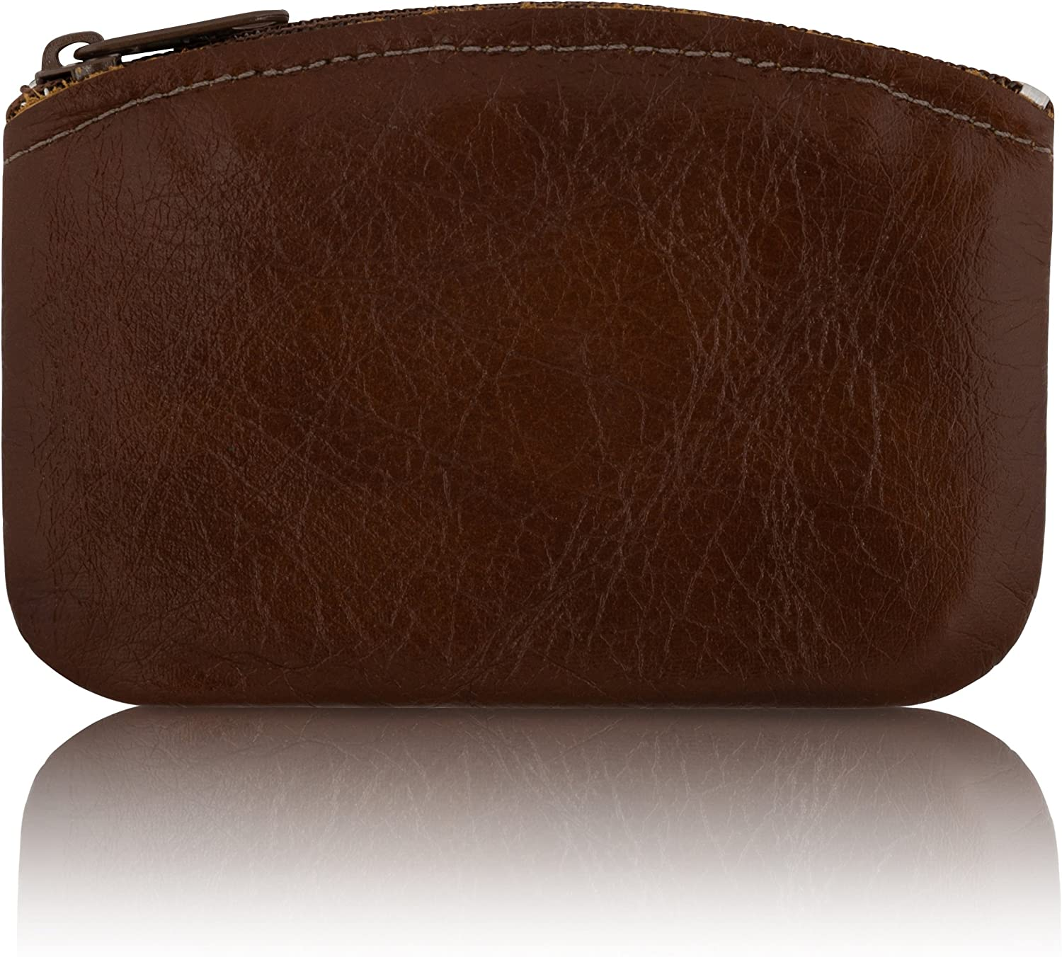 Change holder For Men//Woman made with Genuine Leather Zippered Coin Pouch Coin Purse