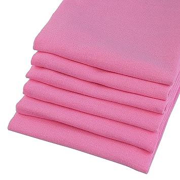 Paños (6 unidades de 100% algodón aspecto de lino en color rosa. 67