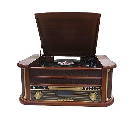 Denver MRD-51, Equipo de Música, Estilo Retro, Dab, Tocadiscos y Reproductor de CD y Casetes, Grabación Desde Un Disco de Vinilo, CD y Cassette, ...