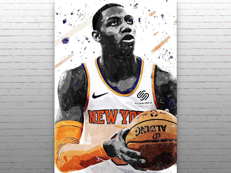 Rowan Alexander Poster, RJ Barrett Print Artwork, New York Knicks Poster, Basketball Wall Art, Basketball Decor, Basketball Gifts, Man Cave Decor Gifts
