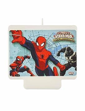 Procos PR87886 - Vela para tartas, diseño de Spiderman ...