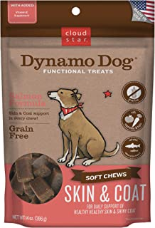 product image for Cloud Star Dynamo Dog Skin & Coat, Functional Soft Chews, Salmon with Omega 3, Vitamin E, Grain Free