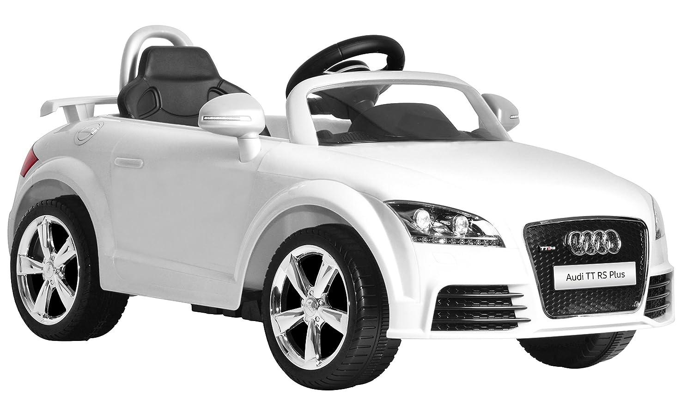 Amazon com kid motorz audi tt rs white one seater car white toys games