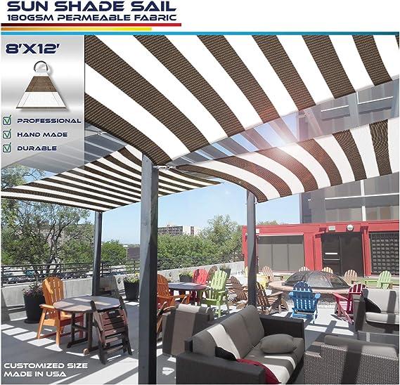 Windscreen4less - Toldo Rectangular de 20 x 30 cm, Resistente a los Rayos UV, toldo para Patio o al Aire Libre – Personalizable