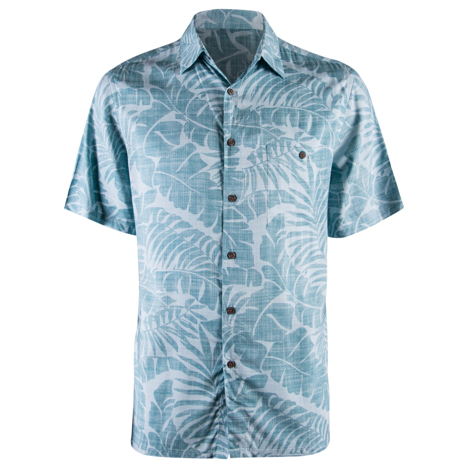 a3aa49b7edc0 Galleon - Campia Men s Rayon Print Shirt (Blue Ocean 17