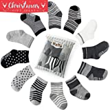 6 pair Non Skid Anti Slip Slipper Cotton Crew Socks With Grips For Baby Toddler Boys, Future Founder