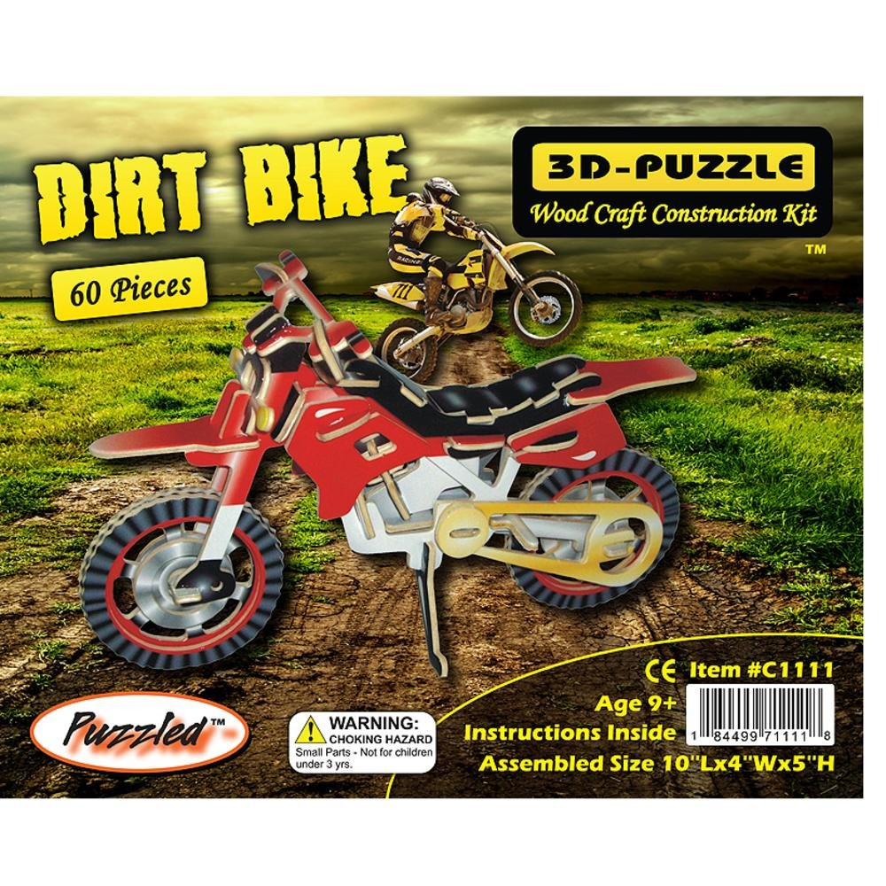 超人気新品 Puzzled 3D C1111 Dirt Bike Bike Dirt Illuminated 3D Puzzle B003WSGFHE, HYカンパニー:d83f7e58 --- quiltersinfo.yarnslave.com