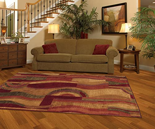 Mohawk Home New Wave Picasso Area rug, 6 x9 , Wine