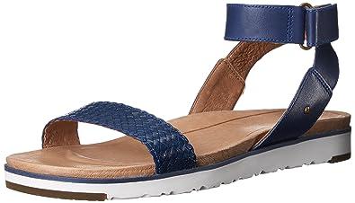 0e1fee3c0ba UGG Women's Laddie Flat Sandal, Marino, 8 US/8 B US: Amazon.ae: DUAE ...
