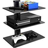 Floating Shelf, Media Storage Wall Mount Bracket for DVD Player/DVR/VCR/Cable Boxes/TV Box/Satellite Box/Receiver/Digital Ant