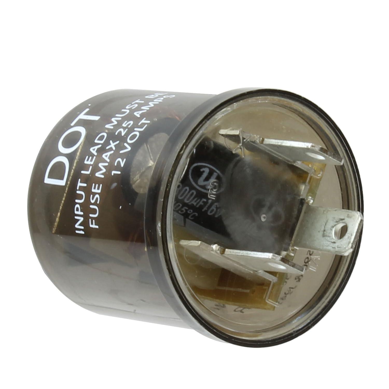 Vehicle Safety Manufacturing 558 Black 3-Pin 1-Lamp HD Electronic Flasher