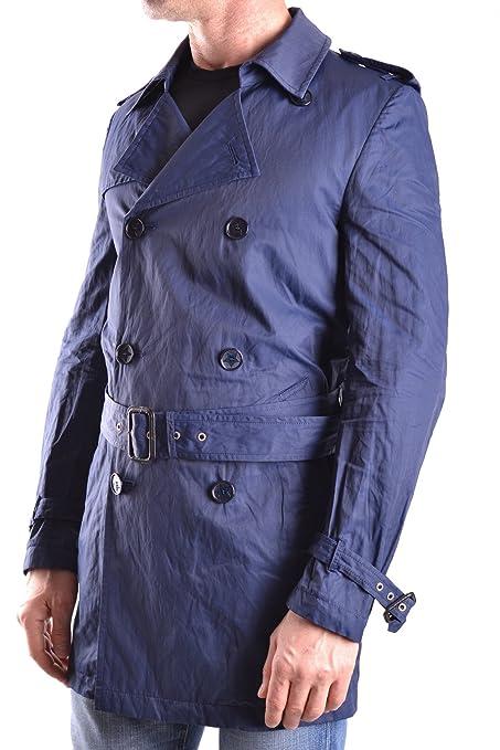 Daniele Alessandrini Herren Mcbi086472o Blau Baumwolle Trench Coat:  Amazon.de: Bekleidung