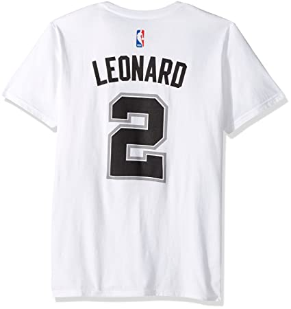 37628774004 Amazon.com : adidas Kawhi Leonard San Antonio Spurs White Jersey Name and  Number T-Shirt : Sports & Outdoors