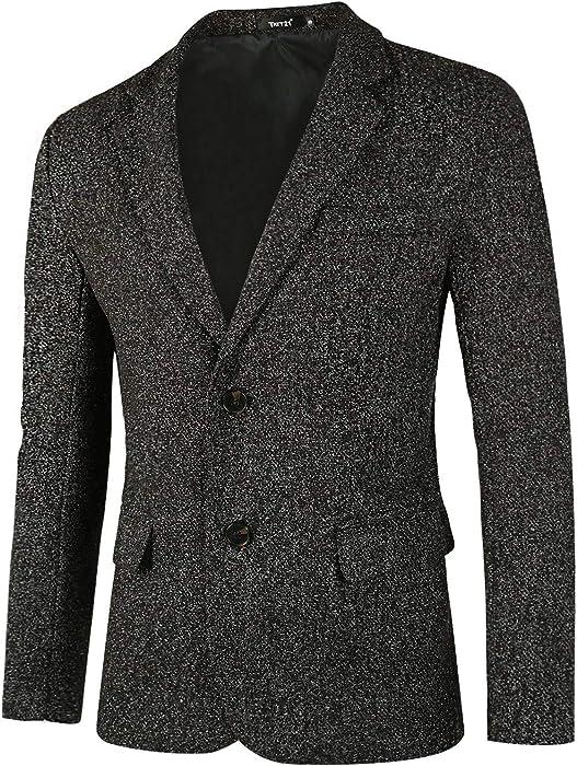 Oeak Brand Mens Blazers Gentlemen Britishs Style Stand Collar Slim Fit Suit Jacket Mens Classic Blazers Male Wedding Overcoats Men's Clothing