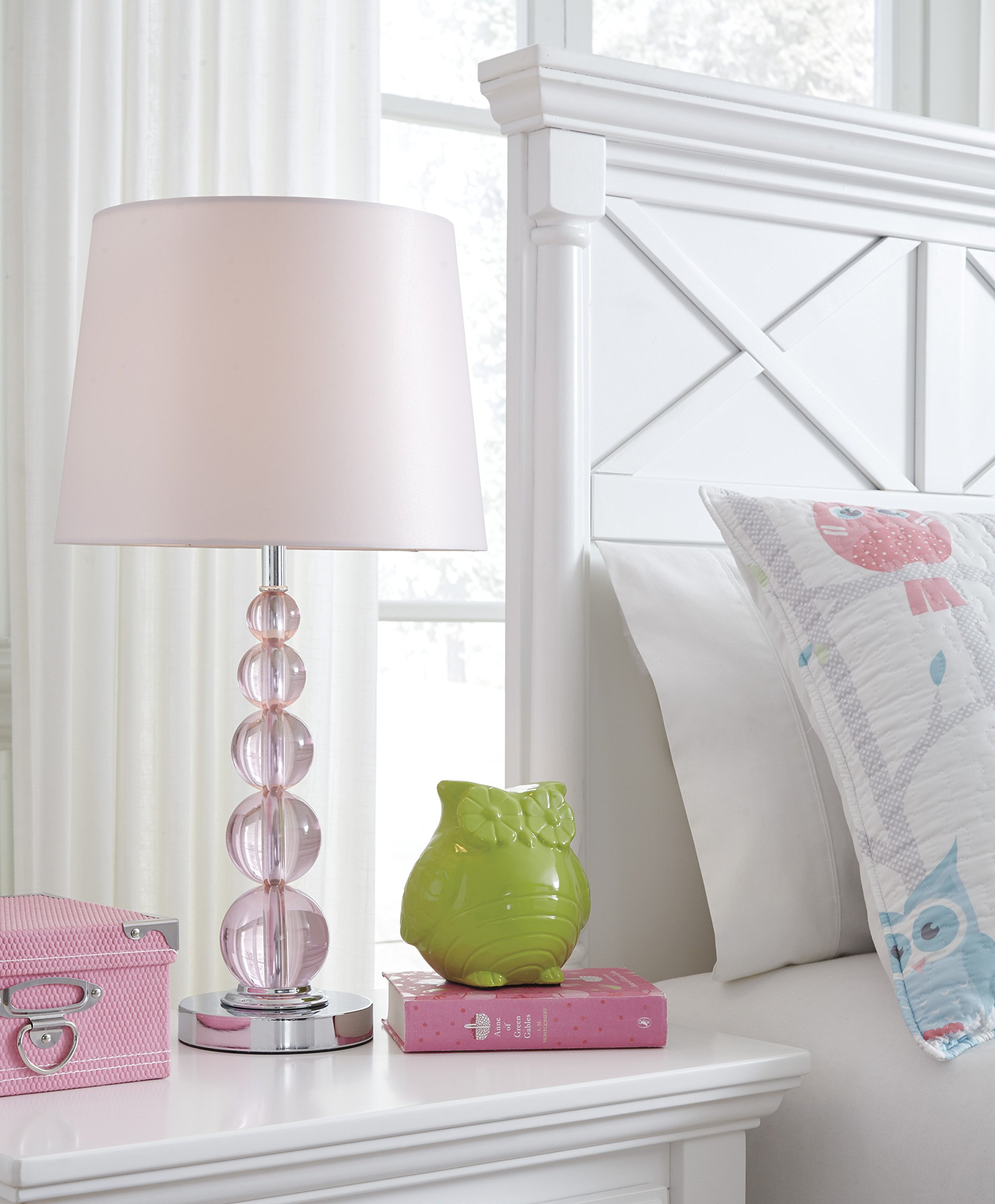 Ashley Furniture Signature Design - Letty Table Lamp - Children's Lamp - Hot Pink by Signature Design by Ashley (Image #3)