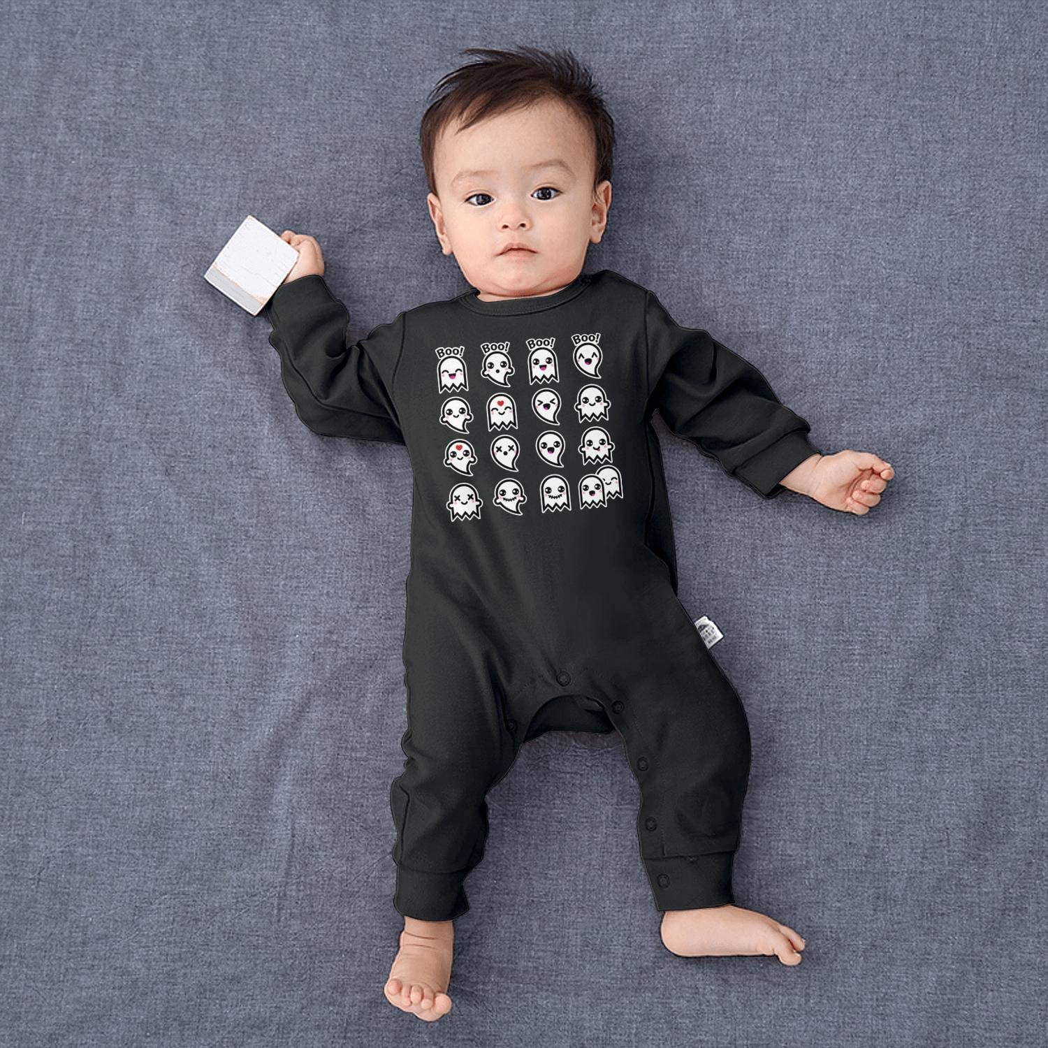 JYKICPmiq Cute Ghost for Halloween Boo Ghost Baby Boys Girls Long Sleeve Baby Onesie Cute Baby Clothes