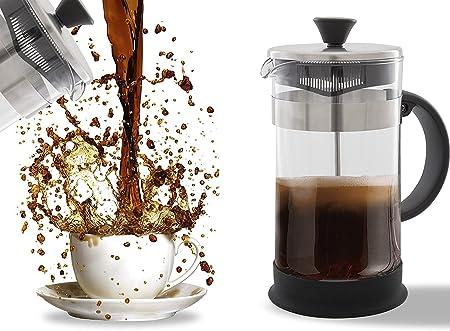 Prensa francesa para café, té expreso, limpieza sencilla, sistema de filtro de calidad, cristal y acero inoxidable, bote resistente al calor y