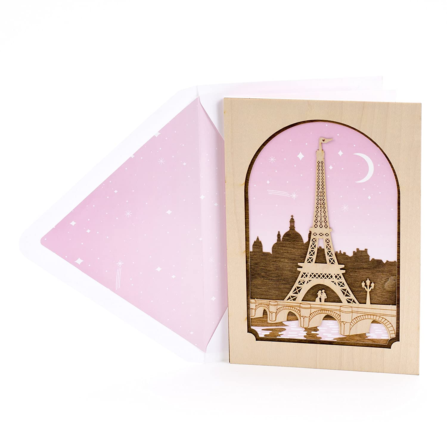 Amazon hallmark signature valentines day greeting card for amazon hallmark signature valentines day greeting card for romantic partner laser cut wood eiffel tower office products kristyandbryce Image collections
