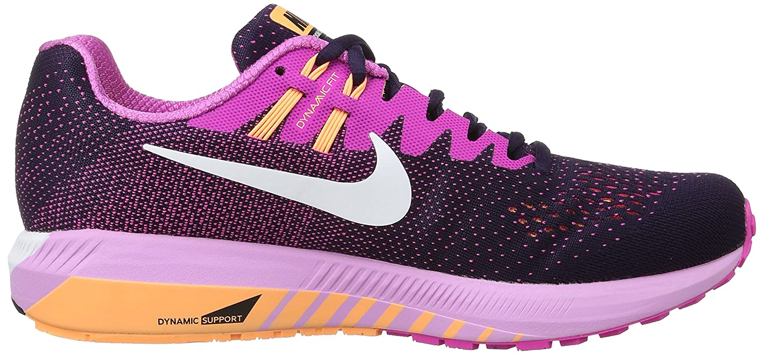 NIKE Womens Air Zoom Structure 20 Lightweight Fitness Running Shoes B01M0ME1LR 5 B(M) US|Purple Dynasty/Fire Pink/Peach Cream/White