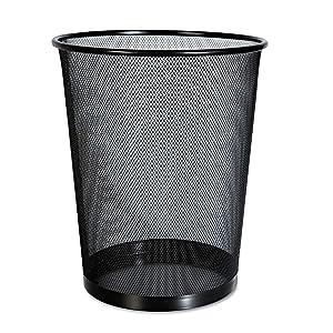 Mesh Wastebasket, 18 qt, Black