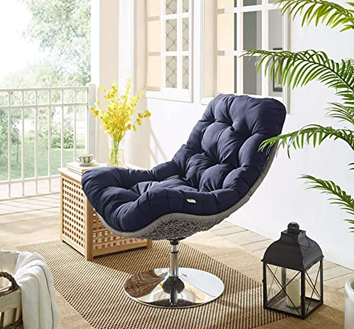 Modway Brighton Outdoor Patio Wicker Rattan Swivel Lounge Chair