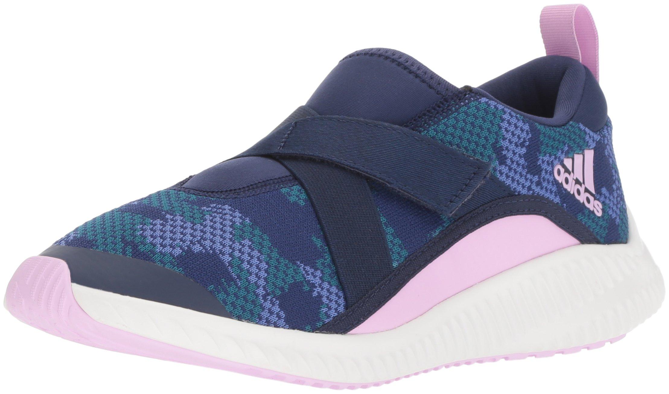 adidas Originals Unisex-Kids Fortarun Running Shoe, Dark Blue/Clear Lilac/Real Lilac, 1 M US Little Kid