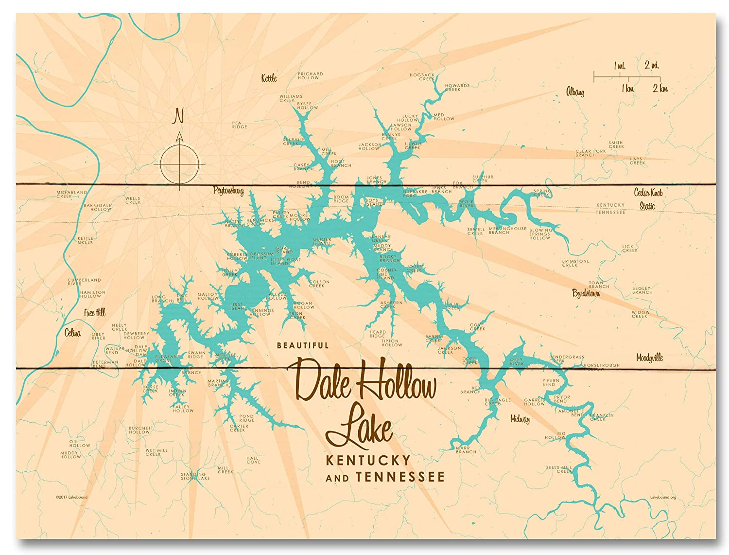 picture relating to Printable Map of Kentucky identify : Dale Hollow Lake, Kentucky Tennessee Common
