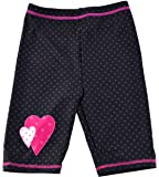 Swimpy Girl's UPF 50 + Short de bain anti-UV pour fille Motif Minnie Mouse Noir