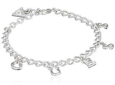 Guess Damen-Armband Iconic Charme mit Anhänger Edelstahl Kristall weiß 19 cm-UBB61080-S   Amazon.de  Schmuck 5f5eb3f4fa