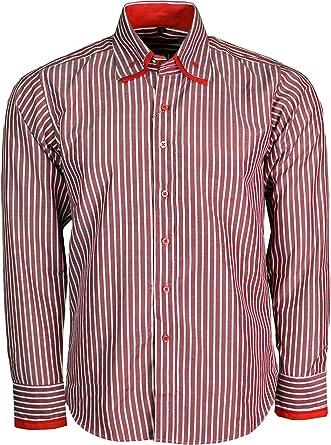mitu uomo - Camisa Casual - para Hombre Rojo Rosso Medium ...