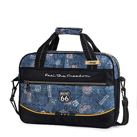 ROUTE 66 - Mochila maletín Extra Escolar con Bandolera Ajustable y 2 Asas. Bolsillo Exterior