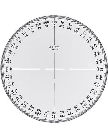 Aristo AR1512/5 - Transportador de ángulos circular (360°)