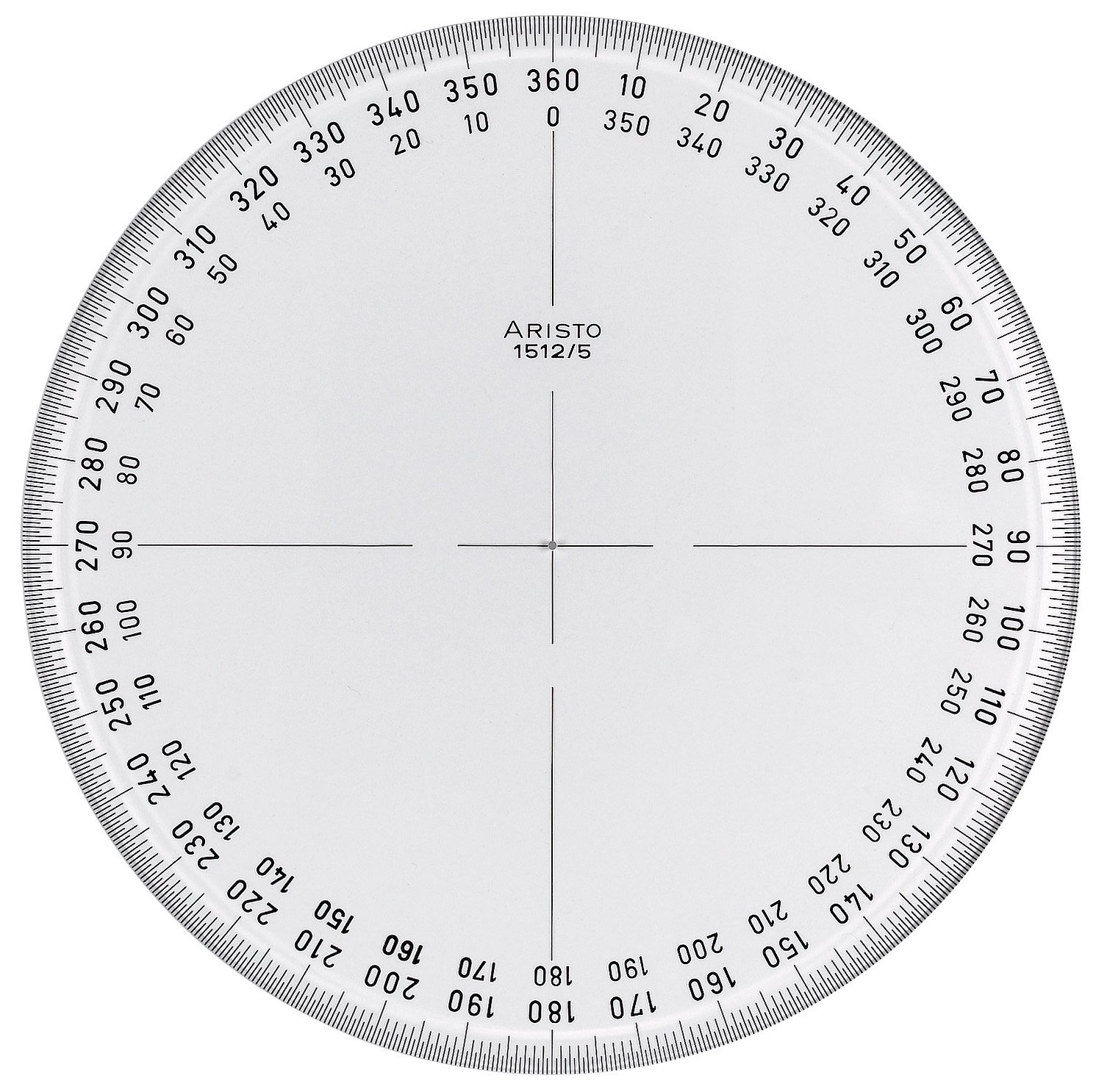 Protractor print out 360 degrees 3rd grade division for Circular protractor template