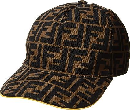 a1b0aba72d Amazon.com: Fendi Kids Unisex Baseball Cap Brown One Size: Clothing