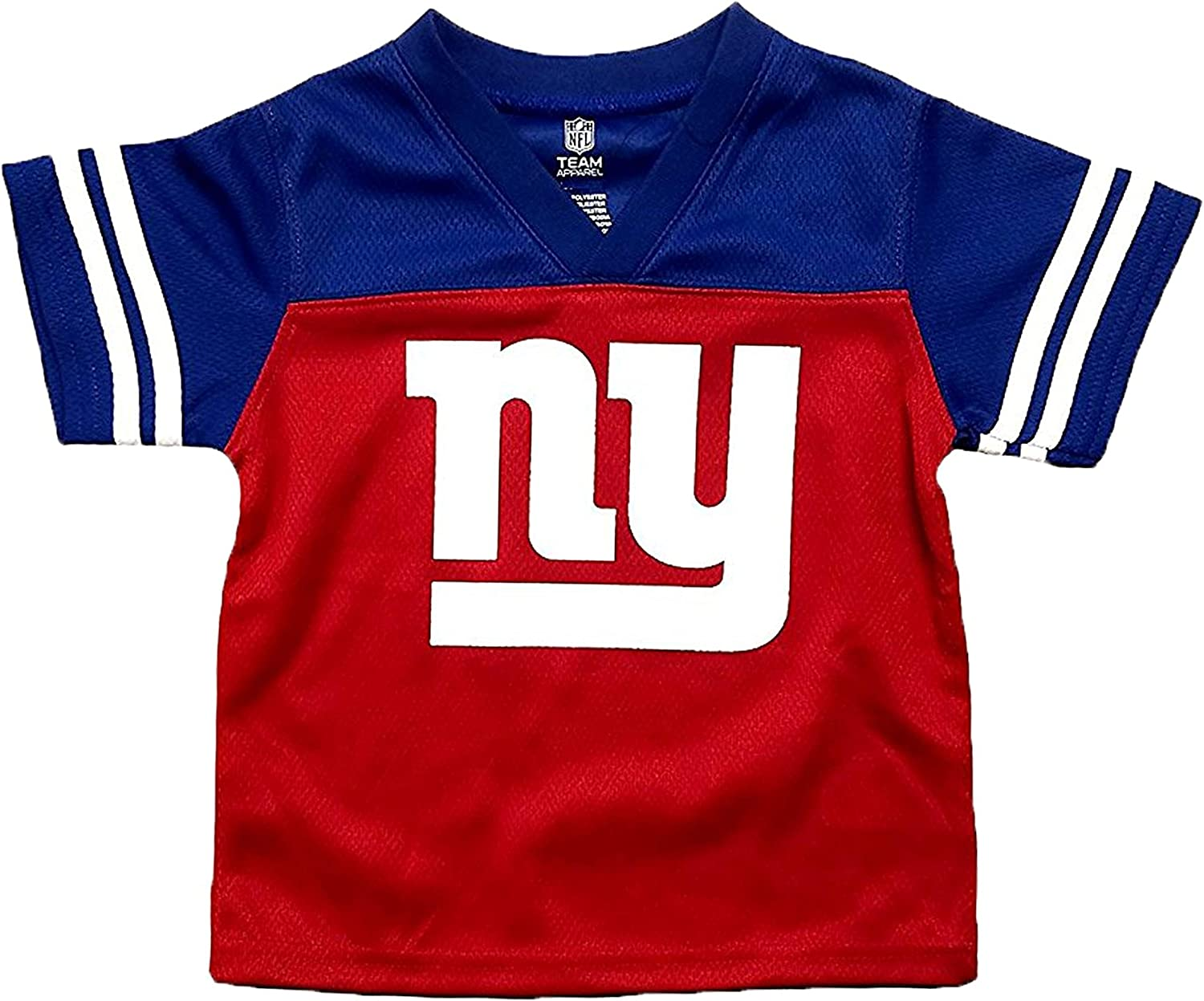 Outerstuff NFL Youth Girls Team V-Neck Tee New York Giants