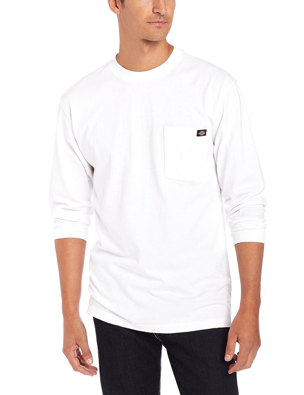 Blanc (blanc Wh) XXL Dickies Pocket Tee L S T-Shirt Manches Longues Homme
