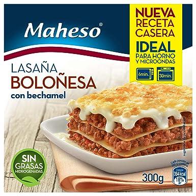 Maheso - Lasaña Boloñesa con Bechamel, 300 g