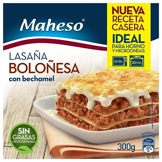Maheso - Lasaña Boloñesa con Bechamel, 300 g: Amazon.es ...