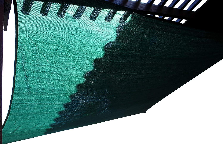 16.5x 16.5 Blue Dot Trading Mesh Square Shade Sail Green