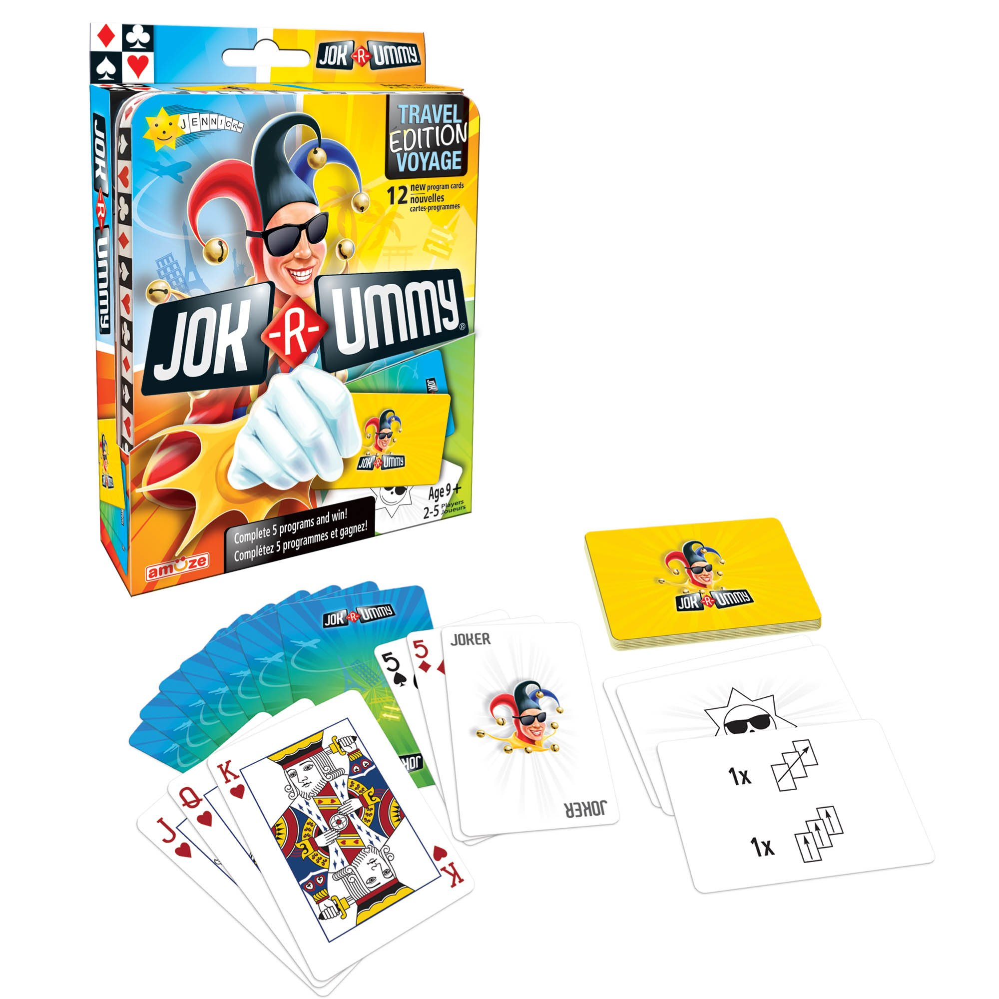 Editions Gladius International JOK-R-Ummy Travel Multiplayer Children's Card Game
