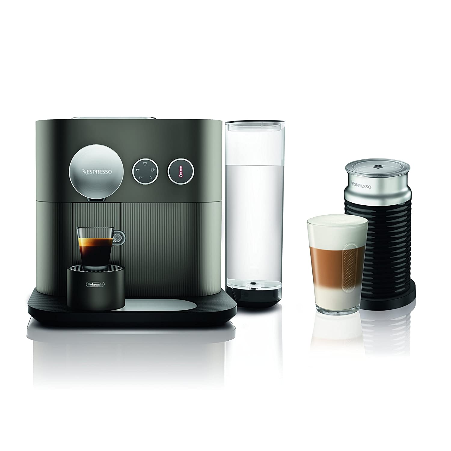 Nespresso Expert Espresso Machineby De'Longhi with Aeroccino, Anthracite Grey