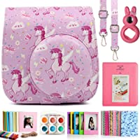 CAIUL Instax Mini 9 Camera Case Accessories Bundle, 7 Items with Case, Album, Lens and Frame for Fujifilm Instax Mini 9 8 8+ Camera(Pink Horse)